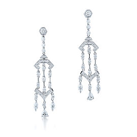 Kwiat 18k White Gold Earrings From The Pagoda Collection