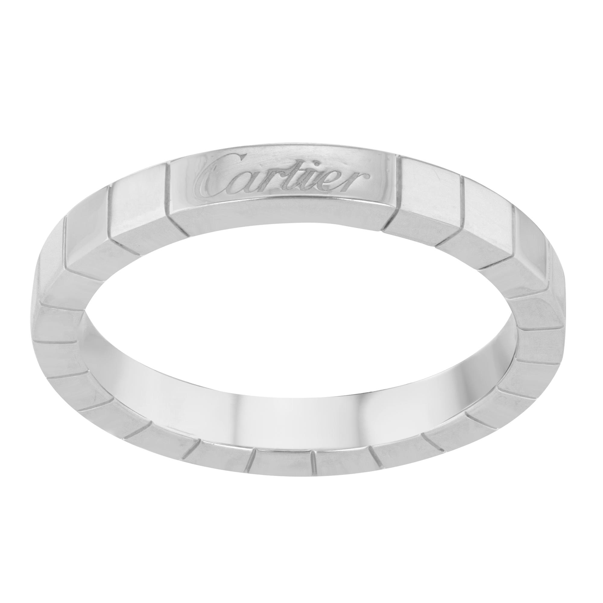 e9bee019785e1 Cartier Lanieres Wedding Band Ring 18K White Gold Size 9.5