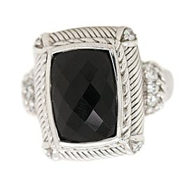 Judith Ripka Sterling Silver and Onyx Ring