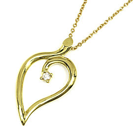 TIFFANY&Co. 18K yellow gold Diamond Leaf heart Necklace