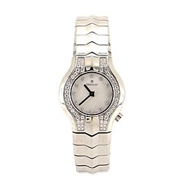 Tag Heuer Alter Ego Quartz Watch Watch Stainless Steel with Diamond Bezel, Lugs and Markers and Mother of Pearl 25