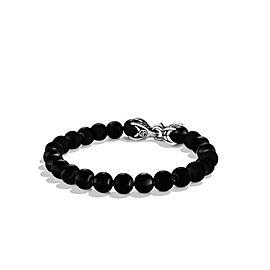 David Yurman Sterling Silver with Black Onyx Spiritual Beads Bracelet