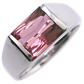 Platinum/Pink tourmaline Ring