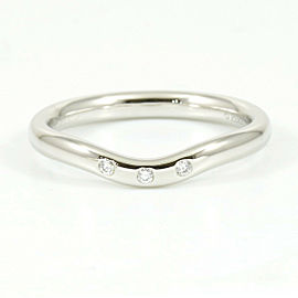 Tiffany & Co. Platinum, Diamond Curved Band Ring CHAT-197