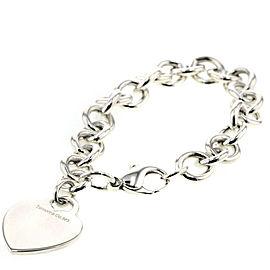 TIFFANY & Co Silver925 Heart tag Chain bracelet TBRK-371