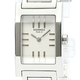 Polished HERMES Tandem Stainless Steel Quartz Ladies Watch TA1.210