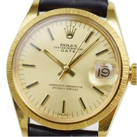 Rolex Perpetual Date 6832 18K Yellow Gold Vintage 30mm Mens Watch