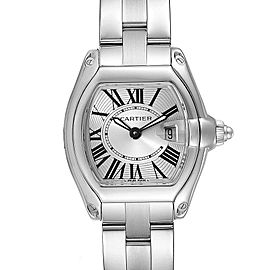 Cartier Roadster Silver Dial Small Model Steel Ladies Watch W62016V3 Box