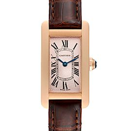 Cartier Tank Americaine Rose Gold Small Ladies Watch 2597