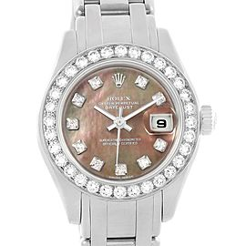 Rolex Pearlmaster 18K White Gold MOP Diamond Ladies Watch 80299