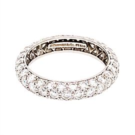 Tiffany and Co. Platinum Etoile Diamond Ring