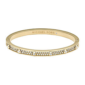 Michael Kors Gold Tone and Crystals Heritage Astor Hinge Pave Bracelet
