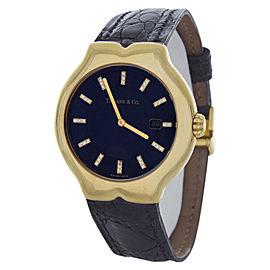Tiffany & Co. Tesoro Black Dial Black Crock Band Swiss Quartz Unisex Watch