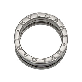 Bulgari 18K White Gold B.Zero 3 Row Band