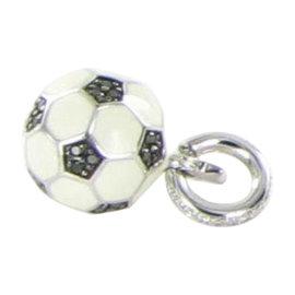 Aaron Basha BA14WBD Soccer Ball Black & White Diamond Gold