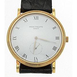 Patek Philippe 3919 Calatrava 18K Yellow Gold 33mm Watch