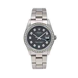 Rolex Oyster Perpetual Date 15000 34mm Womens Watch