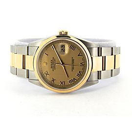 Mens Rolex Two-Tone Datejust Gold Roman 16203