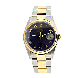 Mens Rolex Two-Tone Datejust Slate Arabic 16203
