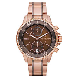 Michael Kors MK5553 Chronograph Two Tone Brown Dial Women's Chronograph Watch