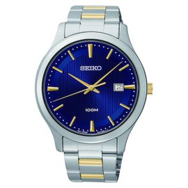 Seiko SUR081 Three-Hand Date Stainless Steel Two-Tone Mens Watch