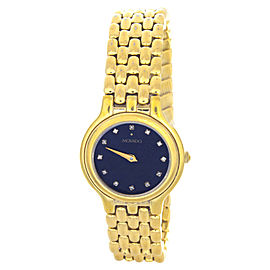 Movado Black Dial Gold-Tone Bracelet Womens Watch