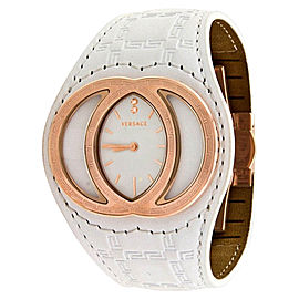 Versace Eclissi V-13 84Q80SD001 White Leather Gianni White Band Womens Watch