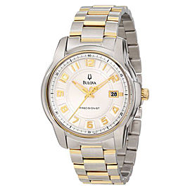 Bulova Precisionist Claremont 98B140 Two-Tone Bracelet Mens Watch