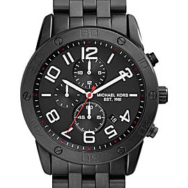 Michael Kors MK8350 Chronograph Black Ion-Plated Stainless Steel Mens Watch