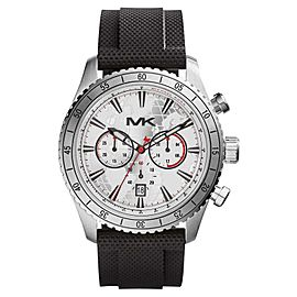 Michael Kors MK8353 Chronograph Silver Dial Black Silicone Analog Men's Watch