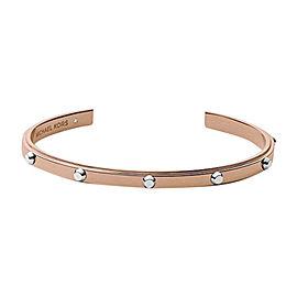 Michael Kors Rose Gold-tone Stainless Steel Stud Mini Open Cuff Bracelet