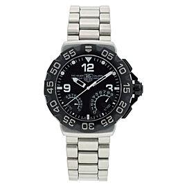 Tag Heuer CAH7010.BAO854 Formula 1 Calibre S Chrono Black Dial Steel Band Watch
