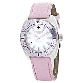 Zodiac ZO4519 MOP Desert Falcon Pink Leather Strap Womens Watch