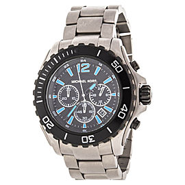 Michael Kors MK8231 Chronograph Drake Titanium Bracelet Watch 47mm
