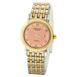 Raymond Weil 5364 Toccata Two-tone Pink Dial Steel Bracelet Quartz Watch