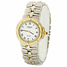 Raymond Weil 9990 Parsifal Two-tone White Date Dial Swiss Quartz Watch