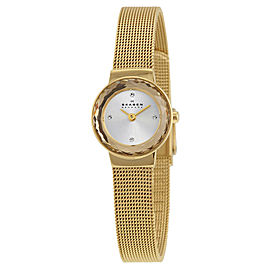 Skagen SKW2186 Leonora Silver Dial Gold Tone Stainless Womens Watch