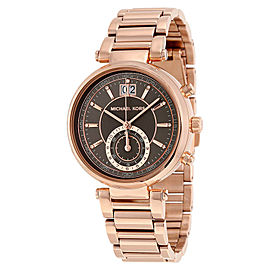 Michael Kors MK6226 Sawyer Grey Dial Rose Gold Plated Stainless Women's Watch