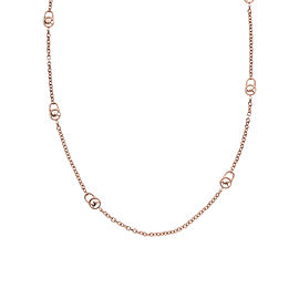 Michael Kors Rose Gold Padlock Chain Logo Necklace