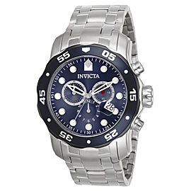 Invicta 80057 Pro Diver Chronograph Blue Dial Stainless Steel Quartz Watch
