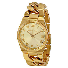 Michael Kors MK3393 Channing Champagne Dial Gold Tone Stainless Women's Watch