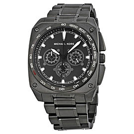 Michael Kors MK8392 Grandstand Black Dial Ion Plated Chronograph Mens Watch