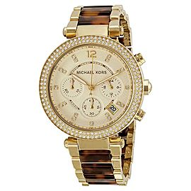Michael Kors MK5688 Parker Gold Dial Gold Tone Chronograph Womens Watch