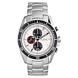 Michael Kors MK8339 Lansing Chronograph White Dial Stainless Steel Mens Watch