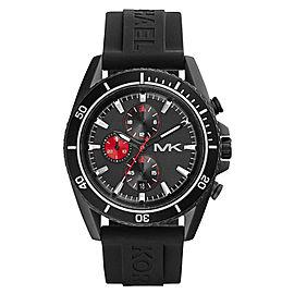 Michael Kors Chrono MK8377 Black Dial Black Silicone Jet Master Men's Watch