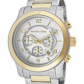 Michael Kors MK8283 Runway Silver Dial Two-Tone Bracelet Men's Watch