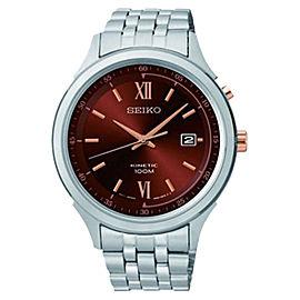 Seiko SKA661 Brown Dial Stainless Steel Kinetic Men's Watch