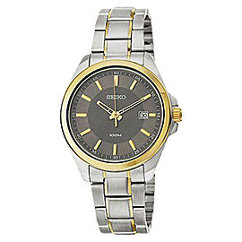 Seiko SUR074 Grey Dial Two Toned Stainless Steel Band Men's Watch