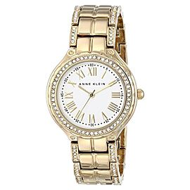 Anne Klein AK/1506SVGB Swarovski Crystal Accent Gold-Tone Bracelet Women's Watch