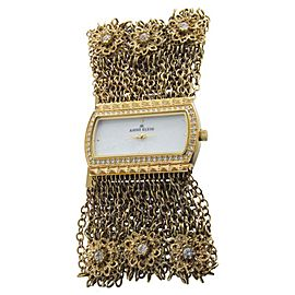 Anne Klein 10/9236MPGB Swarovski Crystal Accented Gold Tone Chain Womens Watch